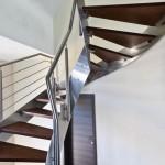 escalier inox marche chêne massif EDI019