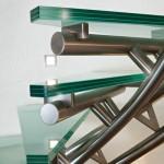 Détails support de marche escalier design inox EDI38