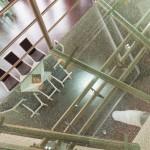 Détail passerelle en verre éclaté  EDI43