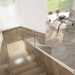 escalier design caisson bois et verre EDI012