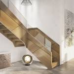 escalier design bois verre EDI014
