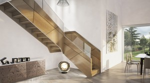 escalier-design-caisson-en-bois-et-verre EDI 013 - La Maestria