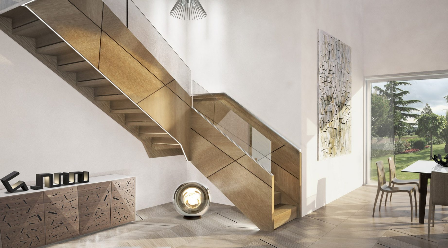 stunning escalier design bois contemporary design trends 2017. Black Bedroom Furniture Sets. Home Design Ideas