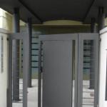 Porte d'accès cour