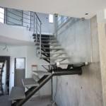 escalier industriel poutre circulaire quart tournant marche granit EC25