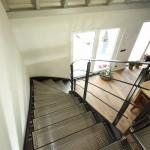 escalier d'atelier demi tournant en acier thermolaqué EC30
