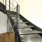 Escalier loft marches inox perforées EC31
