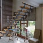 Escalier loft à double limon crémaillère marche chêne à 57000 Metz en Moselle EC38