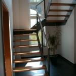 escalier acier un demi tournant marche bois EC22