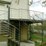 escalier et terrasse exterieure garde corps inox à 57500 St Avold en Lorraine EC41