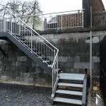 escalier 1/4 tournant exterieur marche metal EC45