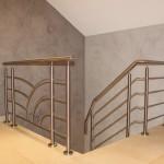 Garde corps mezzanine en inox avec sous-lisses décoratives (88000) Vosges GCI4