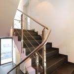 Garde corps d'escalier avec gaines en inox GCI10