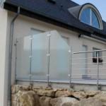 Paroie vitrée et garde corps inox pour terrasse à Marly 57 GCI30
