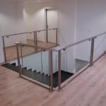 Garde corps mezzanine en verre avec support en acier inoxydable à Marly en Moselle GCV20