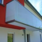 Garde corps pour balcon et verre opalin GCV31