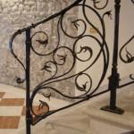 Rampe d'escalier ferronnerie d'art, forgé main
