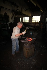 fabrication d'une volute en fer forgé