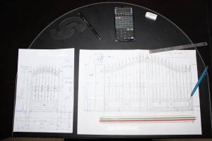 Exemple de dessin ou plan qui servira  à l'approbation par le client