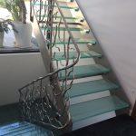 escalier design inox/verreet garde corps d'art inox forgé