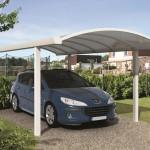 Carport à toiture cintrée en aluminium et polycarbonate A4