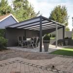 Toiture de terrasse autoporté en aluminium avec fond à lames d'aluminium à Metz 57000 Moselle lorraine P2