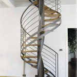 Escalier Loft en métal colimaçon débillardé à Metz en Moselle Lorraine  EC01