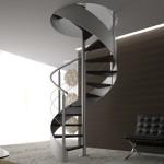 Escalier acier élégant