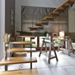Escalier double limon crémaillère marche en chêne massif à Thionville 57100 en lorraine EC18