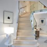 Garde-corps verre pour escaliers de type classique