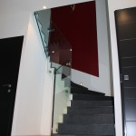 Garde-corps verre pour escalier 1/4 tournant
