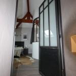 Porte acier deco loft industrielle