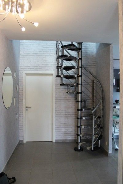 Escalier tournant inox bois 57 Metz en lorraine