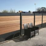 Brise-vue aluminium et bois
