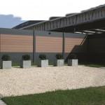 Séparation de jardin en aluminium et composites