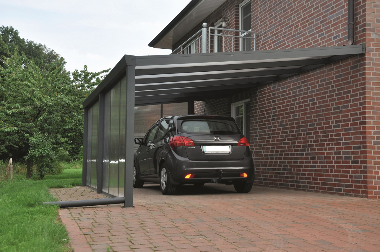 carport adosse aluminium maison design. Black Bedroom Furniture Sets. Home Design Ideas