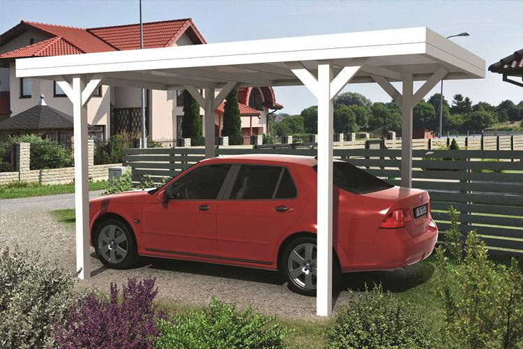 6ba3a69e4ae8c Carport avec toiture plate