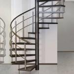 Escalier colimaçon Loft en métal et rambarde inox EC13 en Moselle Lorraine