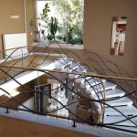 Balustrade fer forge avec protection en verre design