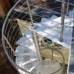 escalier exterieur colimaçon acier et inox