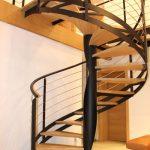 Escalier hélicoïdal acier bois