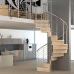 escalier bois et acier design