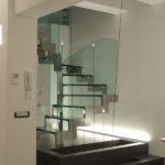 parois en verre pour escalier contemporain